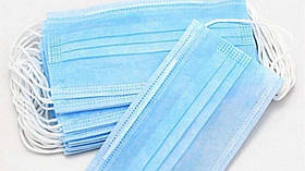 Одноразові тришарові паяні медичні маски 20 шт SKL32-276064