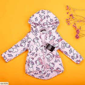 Детская демисезонная парка для девочек розовая SKL11-260957