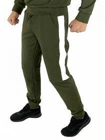 Чоловічі спортивні штани хакі білий Spirited SKL59-259601