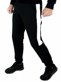 Мужские спортивные штаны черный-белый Spirited SKL59-259602