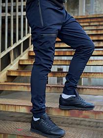 Мужские теплые штаны Flash синие SKL59-259582
