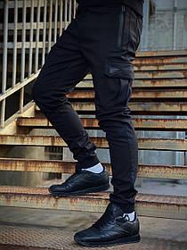Мужские теплые штаны Flash черные SKL59-259581