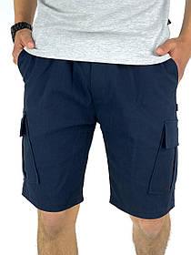 Мужские Шорты Miami синие летние SKL59-259606