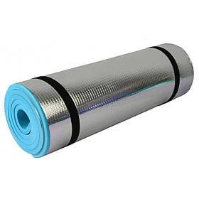 Килимок туристичний килимок SportVida Alu Eva Blue 1 см SV-EZ0012 SKL41-250624