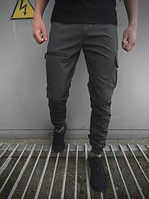 Мужские штаны серые Flash Light SKL59-259487