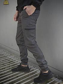 Чоловічі штани сірі Softshell Light SKL59-259490