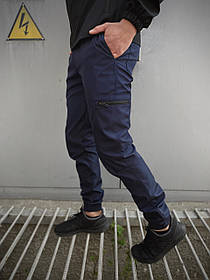 Чоловічі штани сині Softshell Light SKL59-259491