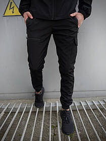 Мужские штаны черные Flash Light SKL59-259486