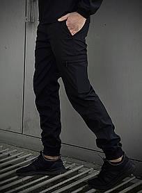Мужские штаны черные Softshell Light SKL59-259489