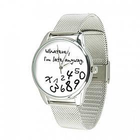 Годинник Ziz Late white, ремінець з нержавіючої сталі срібло і додатковий ремінець SKL22-142927