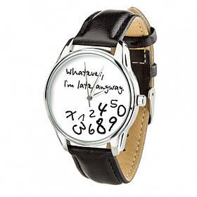 Годинник Ziz Late white, ремінець насичено-чорний, срібло і додатковий ремінець SKL22-142616