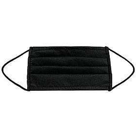 Маска медична для особи Спецмедпошив одноразова двошарова захисна чорна, упаковка 30 шт SKL46-238802