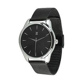 Годинник Ziz Білим по чорному, ремінець з нержавіючої сталі чорний і додатковий ремінець SKL22-142796