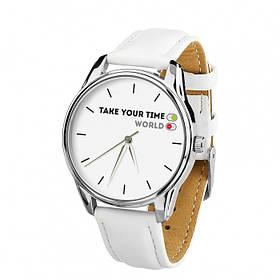 Часы Ziz Выключи мир с дополнительным ремешком, ремешок кокосово-белый, серебро SKL22-228863
