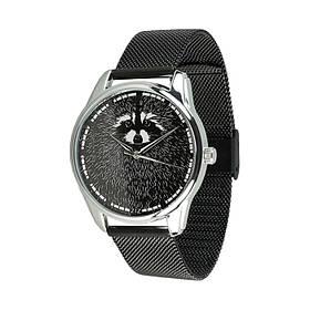 Годинник Ziz Єнот, ремінець з нержавіючої сталі чорний і додатковий ремінець SKL22-142792
