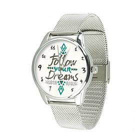 Часы Ziz За своей мечтой, ремешок из нержавеющей стали серебро и дополнительный ремешок SKL22-142928