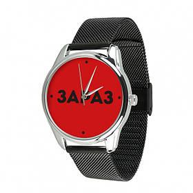 Годинник Ziz Зараз з додатковим ремінцем, ремінець з нержавіючої сталі чорний SKL22-228868
