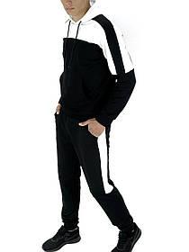 Чоловічий спортивний костюм чорний-білий SKL59-259561