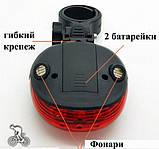 Задня фара з лазером для велосипеда SKL32-152619, фото 3