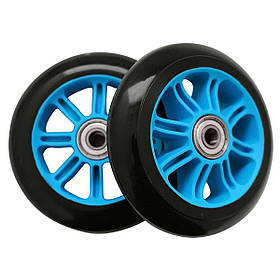 Колеса для трюкового самоката SportVida PP Abec 7 чорно-блакитний 100 мм PU SV-WO0014 SKL41-249514
