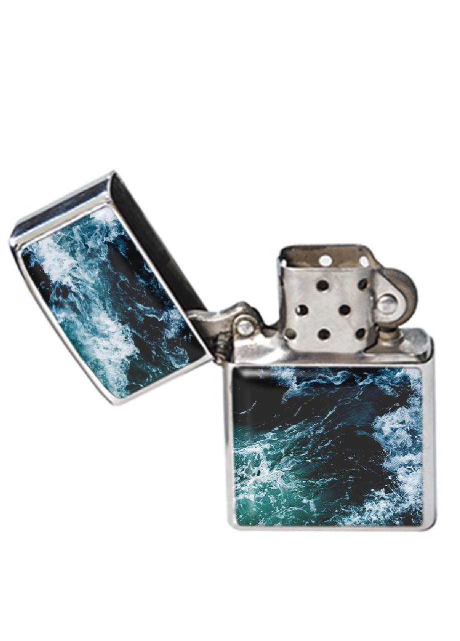Зажигалка DM 01 Морские волны синяя SKL47-176913