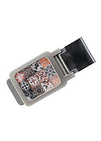 Затиск для грошей DM 01 Східна мозаїка коричневий SKL47-177310