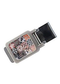 Зажим для денег DM 01 Восточная мозаика коричневый SKL47-177310