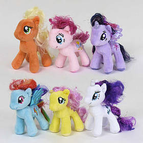 Мягкая игрушка Пони цена за 12 штук в упаковке, фиолетовая, 16 см SKL11-221592