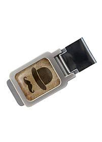 Зажим для денег DM 01 Джентельмен коричневый SKL47-177298