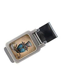 Зажим для денег DM 01 Сова коричневый SKL47-177290
