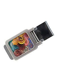 Зажим для денег DM 01 Спирали разноцветный SKL47-177305