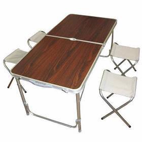 Туристичний складаний стіл з 4 стільцями SKL11-130642
