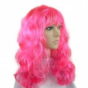 Перука Хвилястий рожевий SKL32-218555