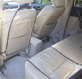 Захист на спинку сидіння і сидіння в машину Organize чорна SKL34-222116