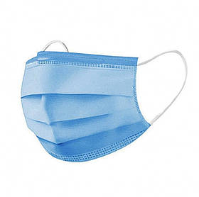 Захисна медична тришарова маска з мельтблауном SKL11-277976