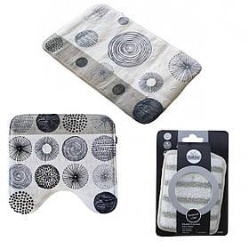 Комплект ковриков в ванную комнату Bathlux 2 шт цвет на выбор в подарок мочалка SKL11-265768