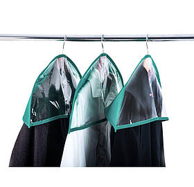 Комплект накидок-чехлов для одежды 3 шт Organize лазурные HN3-azure SKL34-222111