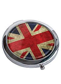Зеркальце косметическое DM 01 Great Britain flag красная SKL47-176860