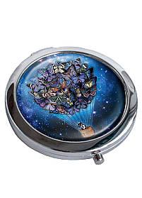 Зеркальце косметическое DM 01 В космосе синее SKL47-176832