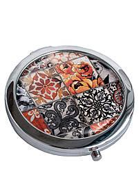 Дзеркальце косметичне DM 01 Східна мозаїка коричневе SKL47-176854