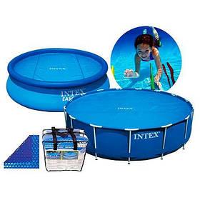 Сонячне покривало для басейни Easy Set 244 см, D 206 см, 120 Мкр, 110 G-M2 SKL11-249545