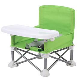 Дитячий складаний стілець для годування Baby seat Pro, тканинний стілець з алюмінієвими ніжками SKL11-276398