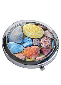 Зеркальце косметическое DM 01 Камни морские разноцветное SKL47-176851