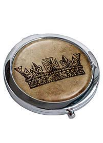 Зеркальце косметическое DM 01 Королева коричневое SKL47-176843