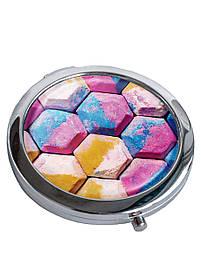 Зеркальце косметическое DM 01 Плитка Холли разноцветное SKL47-176850