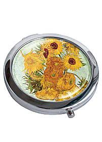 Дзеркальце косметичне DM 01 Соняшники різнобарвне SKL47-176827