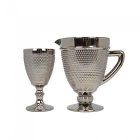 Набір графін і 6 келихів Orleansl срібло SKL11-223164