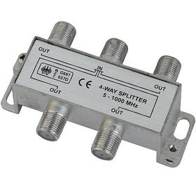 Розгалужувач Germany Splitter 4-WAY 5-1000MHZ корпус металевий SKL31-150780
