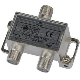 Розгалужувач Splitter 2-WAY Germany 5-1000MHZ корпус металевий SKL31-150772