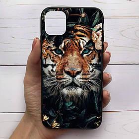 Чохол Mood для iPhone 11 Pro Max з малюнком Тигр у листі SKL68-288719